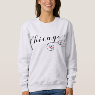 Chicago Heart Sweatshirt, Illinois Sweatshirt
