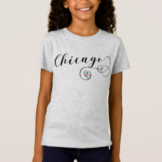 Chicago Heart Tee Shirt, Illinois