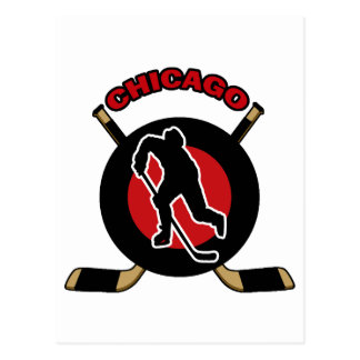 CHICAGO HOCKEY POSTCARD