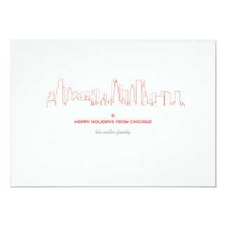 Chicago Holiday Skyline - With matching envelope Card