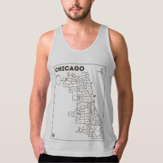 Chicago 'Hoods Map Bold Star Men's Gear Tanks