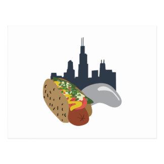 Chicago hot Dog Postcard