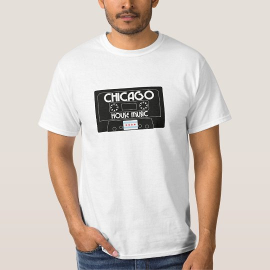 Chicago House Music Cassette (Black) T-Shirt