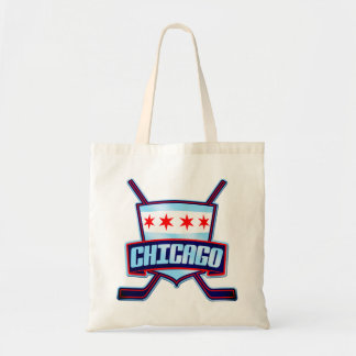 Chicago Ice Hockey Flag Canvas Bag