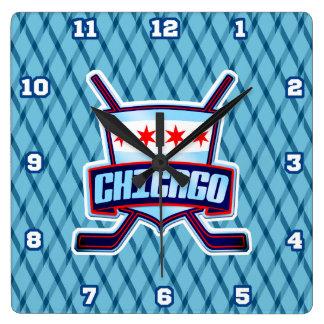 Chicago Ice Hockey Flag Wall Clock