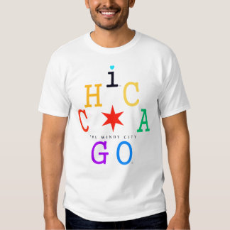 Chicago, Iconic rainbow & Red Star, The Windy City Shirts