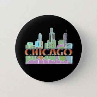 Chicago IL 6 Cm Round Badge