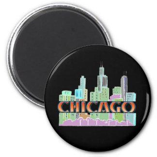 Chicago IL 6 Cm Round Magnet