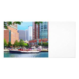 Chicago IL - Chicago River Near Centennial Fountai Photo Greeting Card