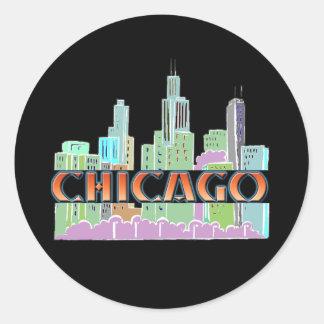 Chicago IL Classic Round Sticker