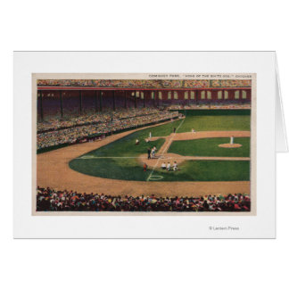 Chicago, IL - Comiskey Park, Home Plate, Basebal Card