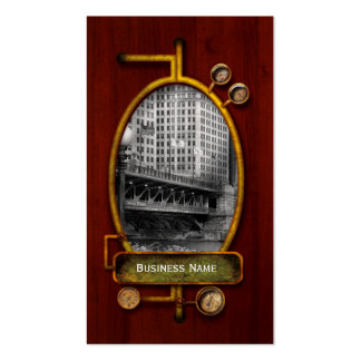 Chicago, IL - DuSable Bridge built in 1920  - BW Pack Of Standard Business Cards