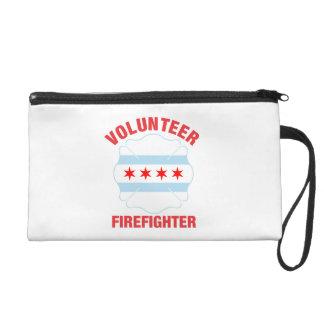 Chicago, IL Flag Volunteer Firefighter Cross Wristlet