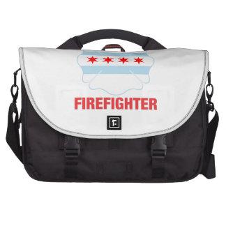 Chicago, IL Flag Volunteer Firefighter Cross Computer Bag