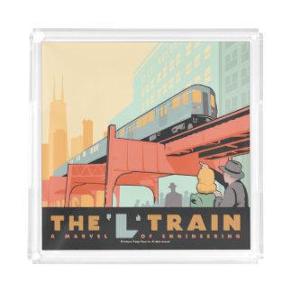 Chicago, IL - 'L' Train Acrylic Tray
