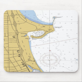Chicago IL Montrose Harbor Nautical Chart Mousepad