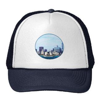Chicago IL - Schooner Against Chicago Skyline Hats