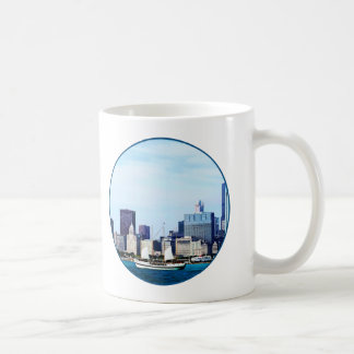 Chicago IL - Schooner Against Chicago Skyline Coffee Mug