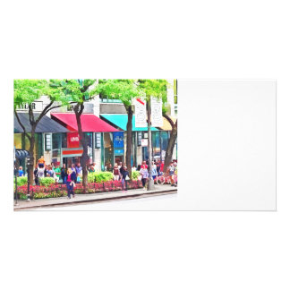 Chicago IL - Shopping Along Michigan Avenue Photo Card Template