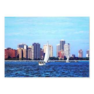 Chicago IL - Two Sailboats by Chicago Skyline Card