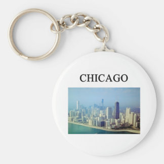 CHICAGO illinois Basic Round Button Key Ring