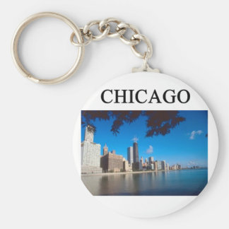 CHICAGO illinois Basic Round Button Key Ring