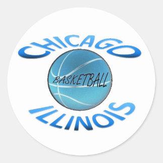 Chicago Illinois Basketball Stickers