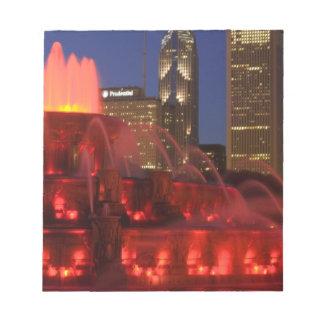Chicago, Illinois, Buckingham Fountain Notepad