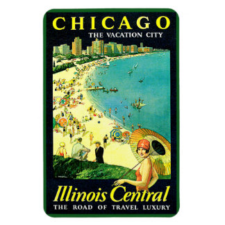 Chicago Illinois Central Magnet