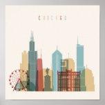 Chicago,Illinois | City Skyline Poster