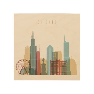 Chicago,Illinois | City Skyline Wood Wall Decor