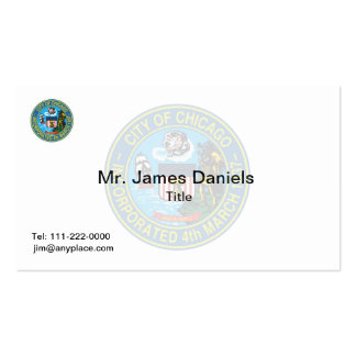 Chicago Illinois Great Seal Pack Of Standard Business Cards