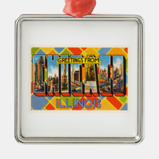 Chicago Illinois IL Old Vintage Travel Souvenir Christmas Ornament