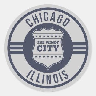Chicago, Illinois ( IL ) , United States USA Round Sticker