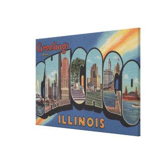 Chicago, Illinois - Large Letter Scenes 2 Canvas Print