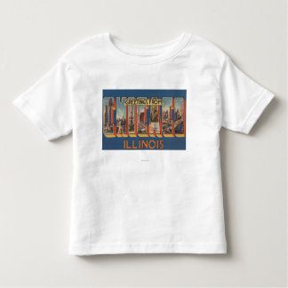 Chicago, Illinois - Large Letter Scenes 2 Toddler T-Shirt