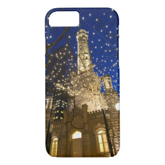 Chicago, Illinois, Old Water Tower with holiday iPhone 8/7 Case