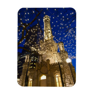 Chicago, Illinois, Old Water Tower with holiday Magnet