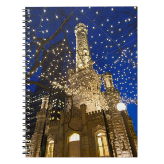 Chicago, Illinois, Old Water Tower with holiday Notebooks