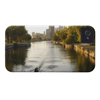 Chicago, Illinois, Rowers in Lincoln Park lagoon Blackberry Case
