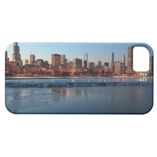 Chicago, Illinois skyline across a frozen Lake Case For The iPhone 5