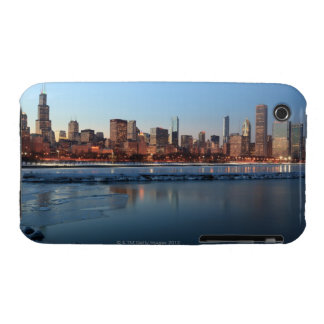 Chicago, Illinois skyline across a frozen Lake iPhone 3 Cases