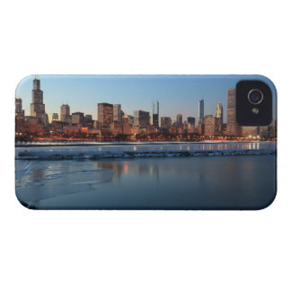 Chicago, Illinois skyline across a frozen Lake iPhone 4 Covers