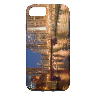 Chicago, Illinois, Skyline and Chicago River at 2 iPhone 8/7 Case