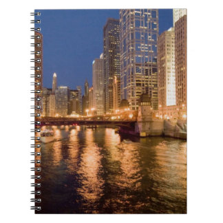 Chicago, Illinois, Skyline and Chicago River at 2 Notebooks