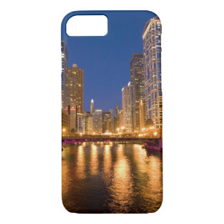 Chicago, Illinois, Skyline and Chicago River at iPhone 8/7 Case