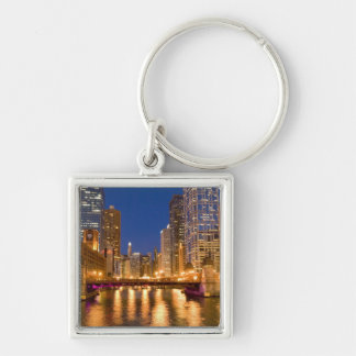 Chicago, Illinois, Skyline and Chicago River at Key Ring