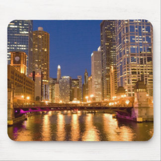 Chicago, Illinois, Skyline and Chicago River at Mouse Mat