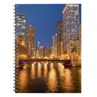 Chicago, Illinois, Skyline and Chicago River at Notebook