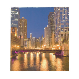 Chicago, Illinois, Skyline and Chicago River at Notepad